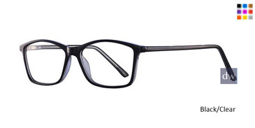 Black/Clear Parade Q Series 1751 Eyeglasses.