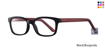 Black/Burgundy Parade Q Series 1755 Eyeglasses - Teenager.