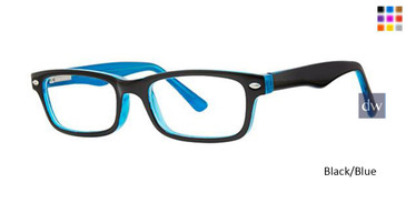 Black/Blue Parade Q Series 1762 Eyeglasses - Teenager.