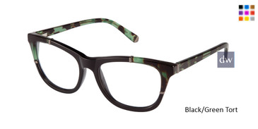 Black/Green Tort Kate Young For Tura K117 Eyeglasses.