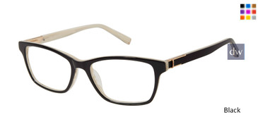 Black Kate Young For Tura K328 Eyeglasses - Teenager.