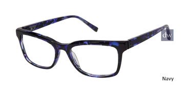 Navy Kate Young For Tura K329 Eyeglasses.
