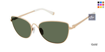 Gold Kate Young For Tura K554 Sunglasses.