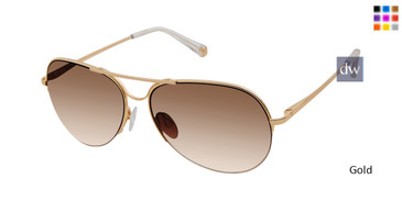 Gold Kate Young For Tura K555 Sunglasses.