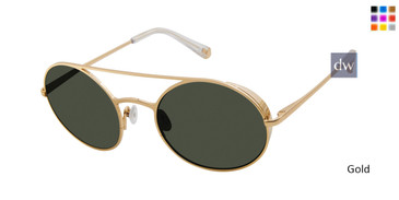 Gold Kate Young For Tura K556 Sunglasses.