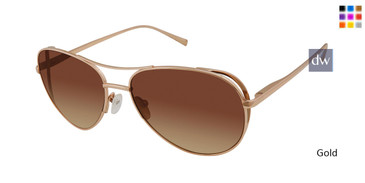Gold Kate Young For Tura K559 Sunglasses.