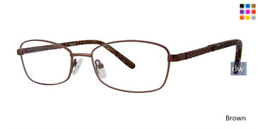 Brown Elan 3421 Eyeglasses