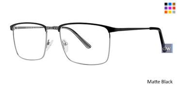 Matte Black Elan 3721 Eyeglasses