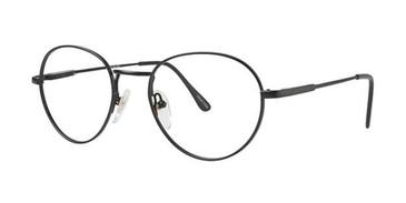 Matte Black Elan 9071 Eyeglasses.