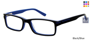 Black/Blue Geoffrey Beene Boys G903 Eyeglasses - Teenager