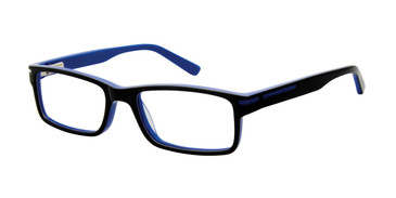 Black/Blue Geoffrey Beene G903 Eyeglasses - Teenager.