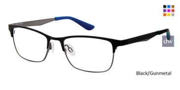 Black/Gunmetal Geoffrey Beene Boys G902 Eyeglasses - Teenager
