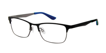 Black/Gunmetal Geoffrey Beene Boys G902 Eyeglasses - Teenager.