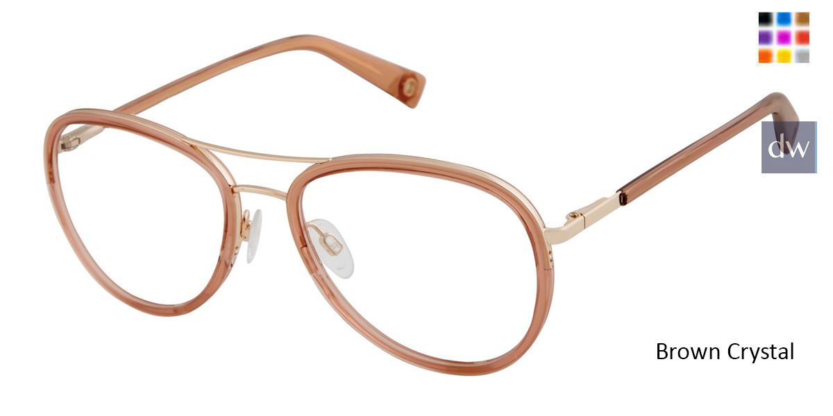 Brown Crystal Brendel 902262 Eyeglasses
