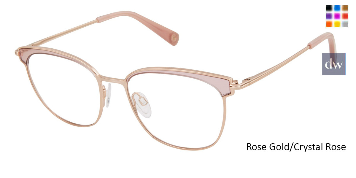 Rose Gold/Crystal Rose Brendel 902285 Eyeglasses
