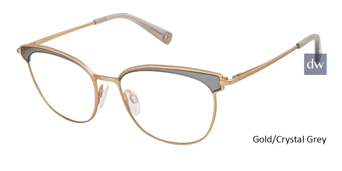 Gold/Crystal Grey Brendel 902285 Eyeglasses
