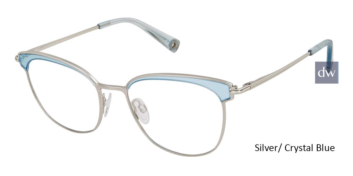 Silver/ Crystal Blue Brendel 902285 Eyeglasses