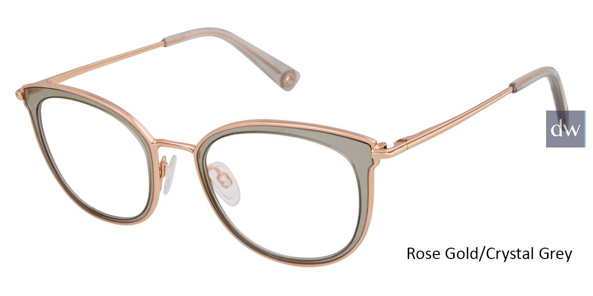 Rose Gold/Crystal Grey Brendel 902286 Eyeglasses - Teenager