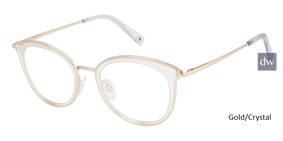 Gold/Crystal Brendel 902286 Eyeglasses - Teenager