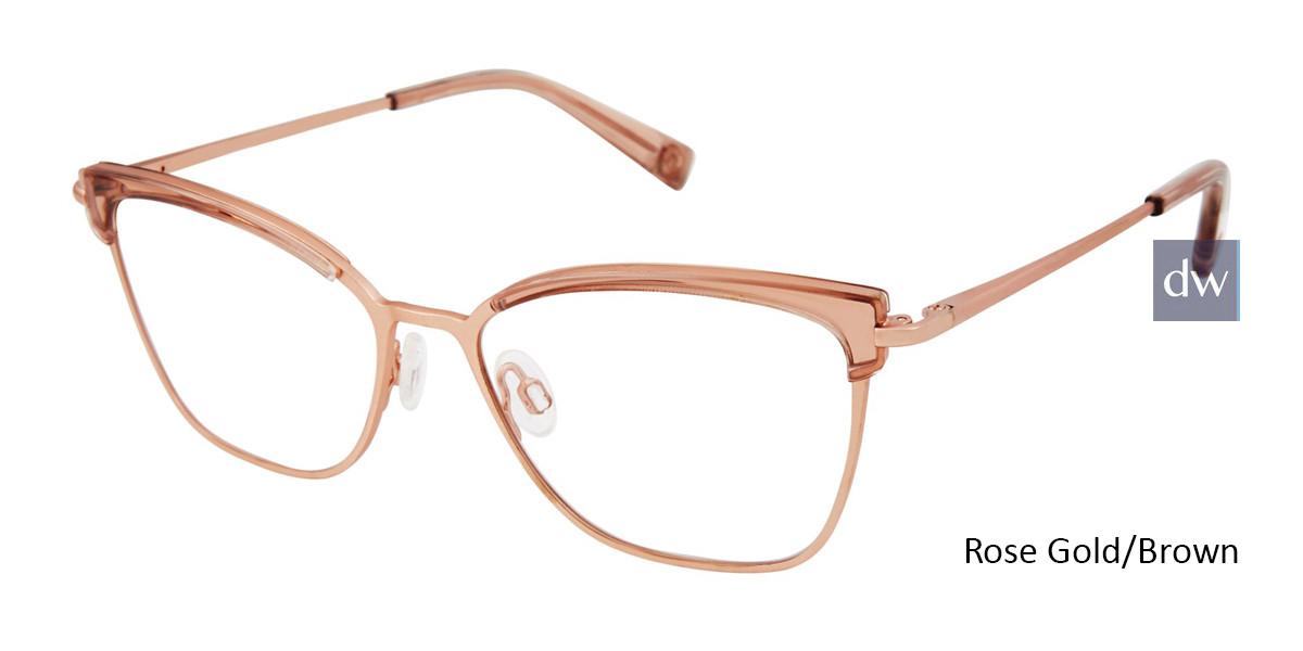 Rose Gold/Brown Brendel 922063 Eyeglasses