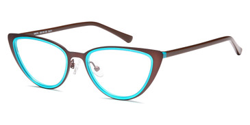Matt Brown/Aqua Capri Menizzi M4075 Eyeglasses - Teenager.