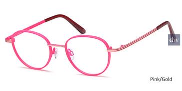 Pink/Gold Capri M4068 Eyeglasses.