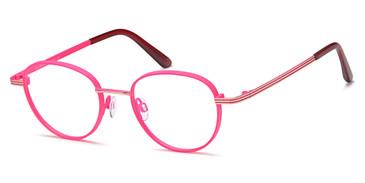 Pink/Gold Capri Menizzi M4068 Eyeglasses.