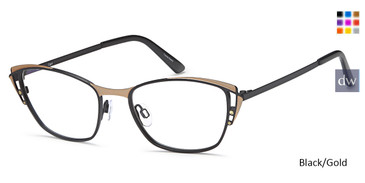 Black/Gold Capri AG5027 Eyeglasses.