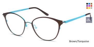 Brown/Turquoise Capri AG5036 Eyeglasses.