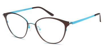 Brown/Turquoise Capri Artistik Galerie  AG5036 Eyeglasses.