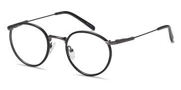 Black/Gunmetal Capri Dicaprio DC171 Eyeglasses - Teenager.