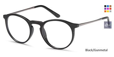 Black/Gunmetal Capri DC176 Eyeglasses.