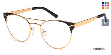 Gold/Black Capri DC179 Eyeglasses - Teenager.