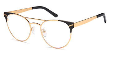 Gold/Black Capri Dicaprio DC179 Eyeglasses - Teenager.