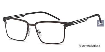 Gunmetal/Black Capri DC328 Eyeglasses.