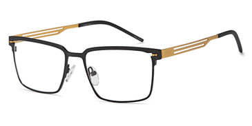 Black/Gold Capri DC328 Eyeglasses.