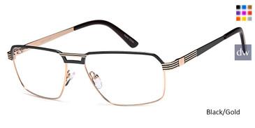 Black/Gold Capri GR814 Eyeglasses.