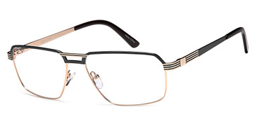Black/Gold Capri GR814 Eyeglasses.
