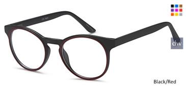 Black/Red Capri LOL Eyeglasses - Teenager.