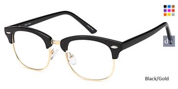 Black/Gold Capri Riley Eyeglasses - Teenager.
