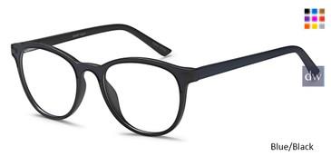 Blue/Black Capri Snap Eyeglasses.