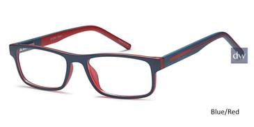 Blue/Red Capri Story Eyeglasses - Teenager.