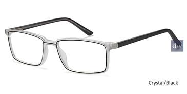 Crystal/Black Capri Viral Eyeglasses.