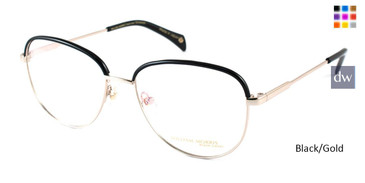 Black/Gold William Morris Black Label BLELIZABETH Eyeglasses