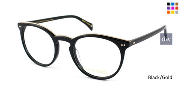 Black/Gold William Morris Black Label BLBLUNT Eyeglasses