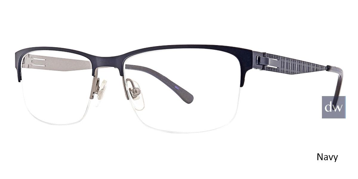 Navy Argyleclture Hawkins Eyeglasses.