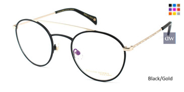 Black/Gold William Morris Black Label BLFREDRICK Eyeglasses