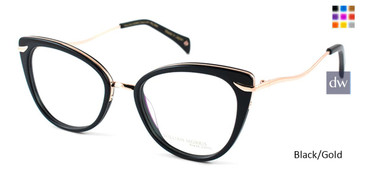 Black/Gold William Morris Black Label BLPALOMA Eyeglasses
