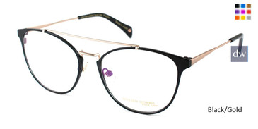 Black/Gold William Morris Black Label BLPETULA Eyeglasses