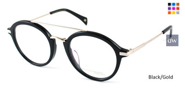 Black/Gold William Morris Black Label BLHARRY Eyeglasses